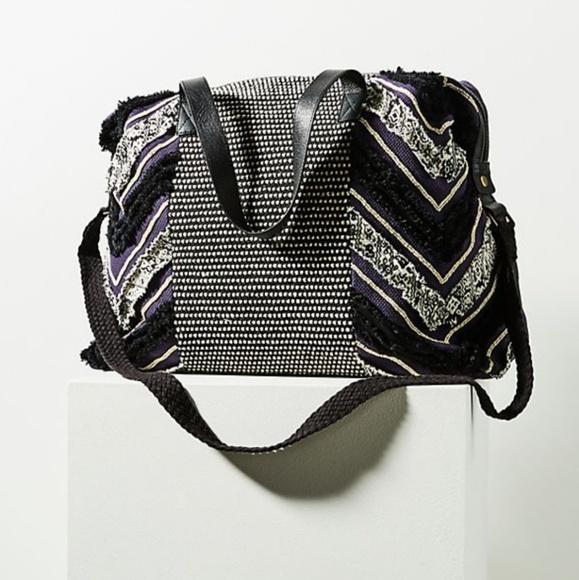 Anthropologie Handbags - Anthropologie Iman Embellished Weekender Bag